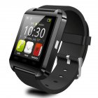 U8 Bluetooth Smart Watch Anti-lost Pedometer Stopwatch Heart Rate Detection Health Tracker black