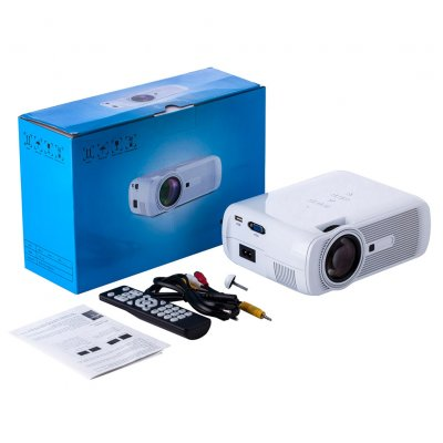 U80 Mini Video Projector LCD Portable Home Movie Theater 20000hrs LED Lamp Life HDMI SD AV VGA USB Interface white_European regulations