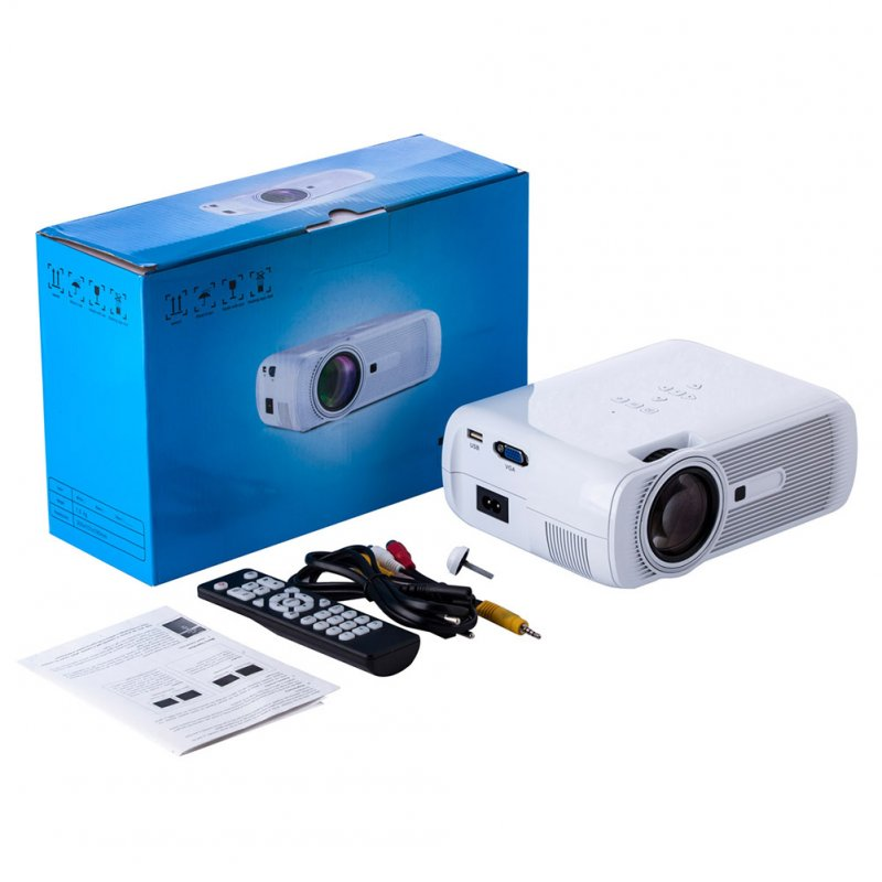U80 PRO Mini Movie Projector LCD 1500 Lumen Video Home Theater Entertainment Compatible with HDMI SD AV VGA USB white_U.S. regulations