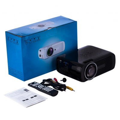 U80 PRO Mini Movie Projector LCD 1500 Lumen Video Home Theater Entertainment Compatible with HDMI SD AV VGA USB black_European regulations