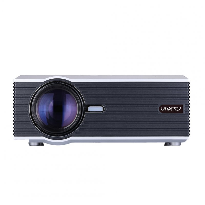U88 Mini Projector Portable Home Theater Entertainment Supports 1080P HD VGA/USB/SD/HDMI/Audio/AV/TV Silver_British regulations