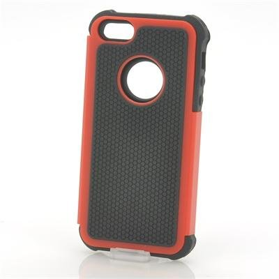 Rugged Hard Case for iPhone 5 Red
