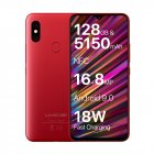 UMIDIGI F1 4G Phablet   6 3 inch  Android 9 0  Helio P60 Octa Core 2 0GHz  4GB RAM 128GB ROM   Red non European