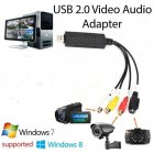 USB 2.0 AV Adaptor Audio Video Converter CVBS S-Video Ports Camcorder Audio Capture Card Splitter Adapter Cable for TV/Mac/PC  black