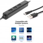 USB 2.0 HUB HUB Multi USB Splitter Multiple USB 3 Hub Use Power Adapter USB 2.0 Hub with Switch For PC black
