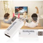 USB 2.0 Mini HD 1080P HDMI Video Capture Card Live Recording Box Supports OBS for PC Game/Video/Live Broadcast BGD0090