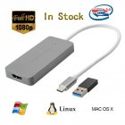 USB 3.0 HD Video Capture for HDMI to TypeC UVC Video Capture Type-c  gray