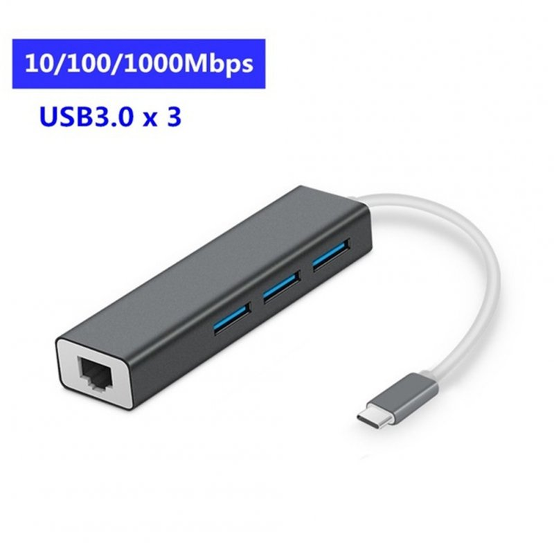USB 3.0 HUB Multi Ports USB Type C Expansion Dock with RJ45 Adapter 4 Ports USB HUB