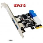USB 3.0 PCI-E Expansion Card Adapter External 2 Port USB3.0 Hub Internal 19pin Header PCI-E Card 4pin IDE Power Connector USB 3.0
