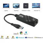 USB 3.0 to 10/100/1000 Mbps Gigabit RJ45 Ethernet LAN Network Adapter  black