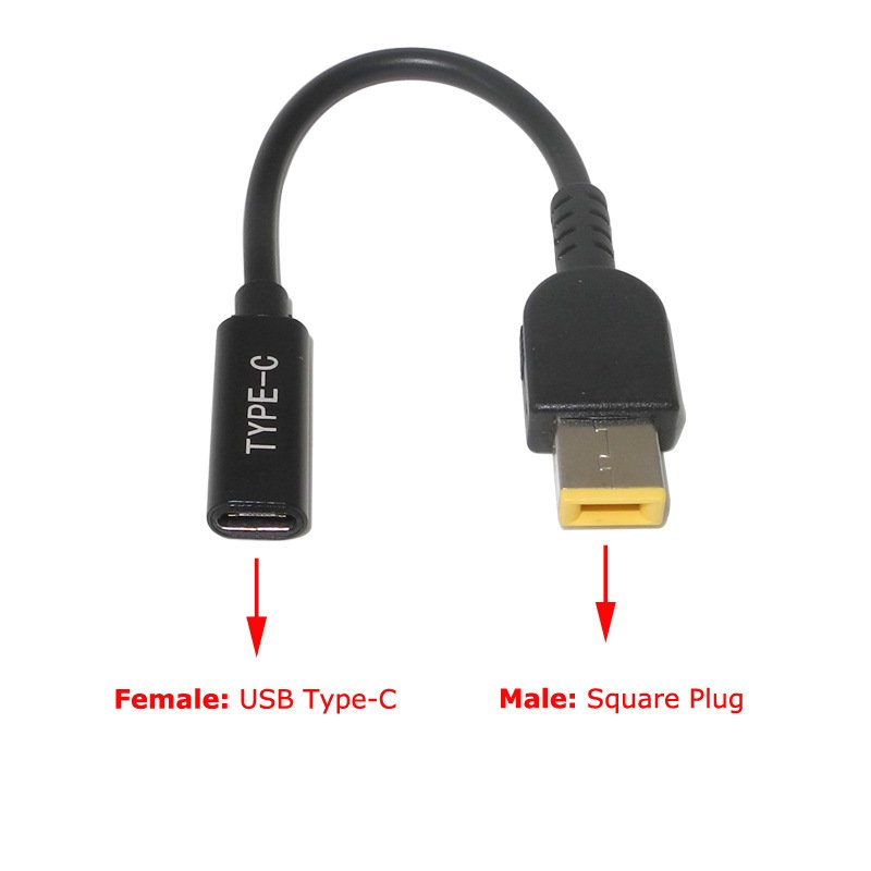USB 3.1 Type C USB Female to DC 7.9*5.0mm 4.0*1.35 5.5*2.5 2.1 Square Male Charger Adapter for Lenovo PD Square Plug