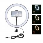 USB 3 Modes Dimmable Led Ring Vlogging Photography Video Lights with Tripod Ball Head 9 inch ring light (PU407)