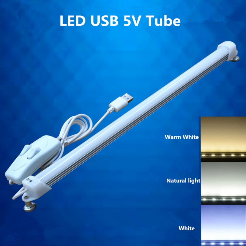 USB 5V 52cm  3Colors Dimming Learning LED Tube Creamy white shade