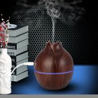 USB Air Humidifier Home Office Mute Mini Aromatherapy Mist Maker Dark wood grain