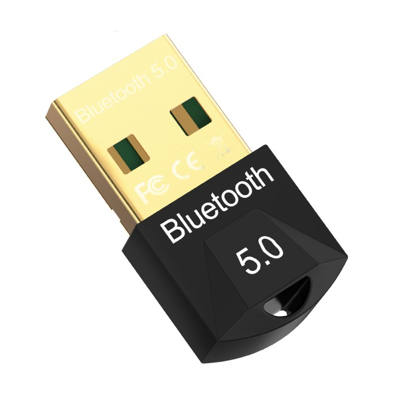 USB Bluetooth 5.0 Bluetooth Adapter Receiver 5.0 Bluetooth Dongle 5.0 4.0 Adapter for PC PS4 TV Car 5.0 Bluthooth Transmitter black