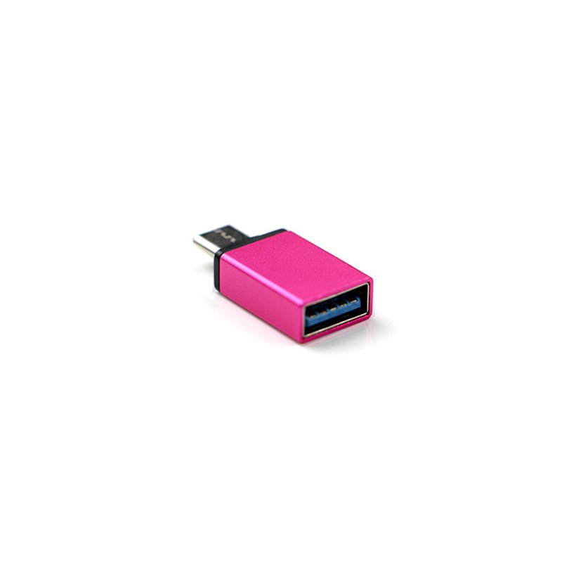 USB-C Type C 3.1 Male to USB 3.0 Type A Female Adapter Sync Data Hub OTG  red