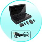 USB Cable for CVBS S08 Solar Battery Charger for iPods  Phones  Cameras and USB Devices