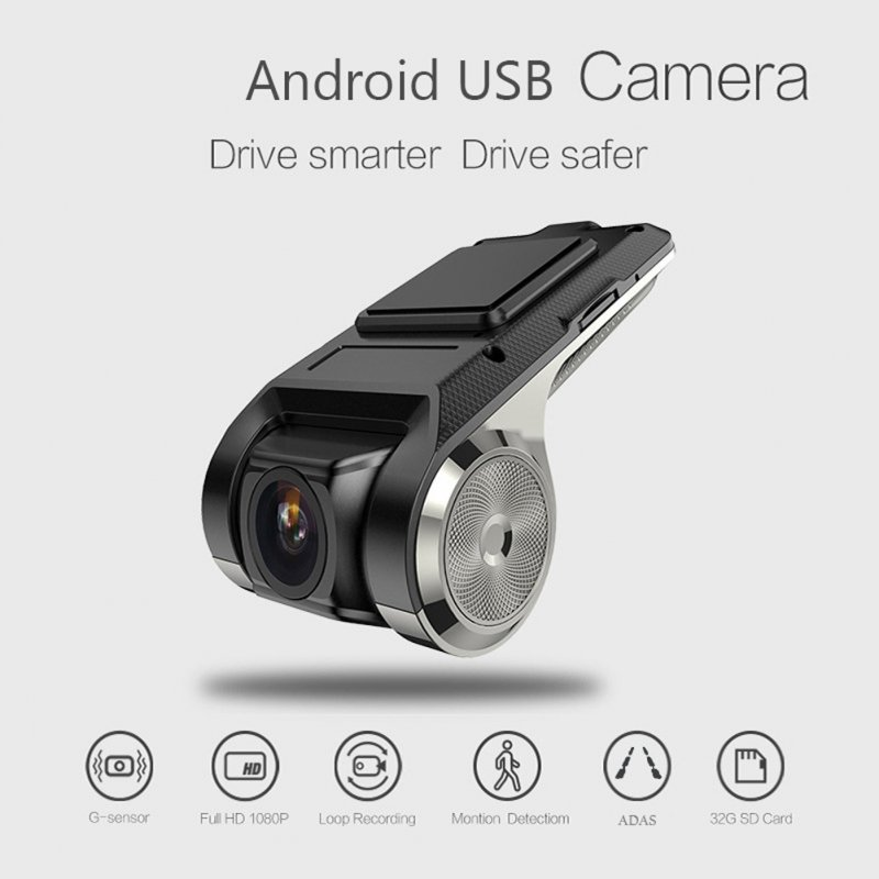 USB Car DVR Dash Cam Auto Camera Large Screen Video Recorder Android System U2 Puqing
