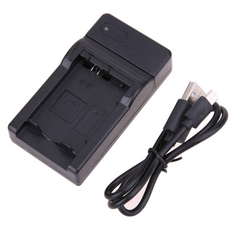 USB Charger for SONY FW50 for Sony NP-FW50 Battery black