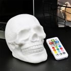 USB Charging Colourful LED Skull Head Patting Lamp with Remote Control Night Light Decoration Gift USB 5V