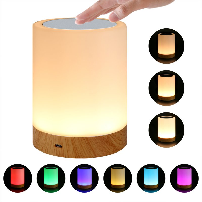 LED Night Lamp Colorful + Warm Light 4W
