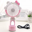 USB Charging Silent Small Fan Portable Handheld Fan for Home Office Student Dormitory Pink