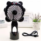 USB Charging Silent Small Fan Portable Handheld Fan for Home Office Student Dormitory black