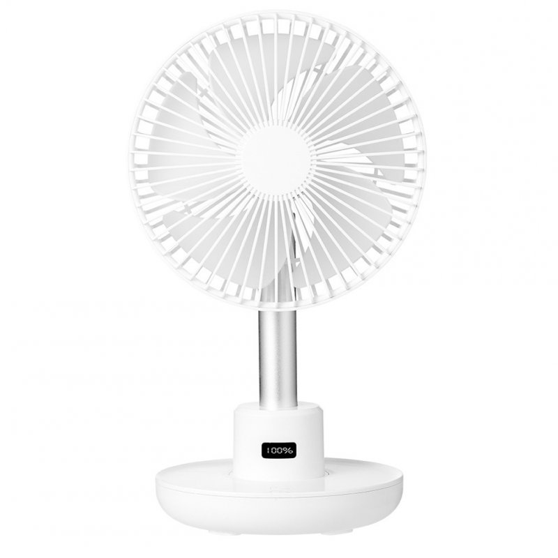 USB Desktop Fan Portable Rotation Angle Fan for Office Household Traveling white_160*185*320mm
