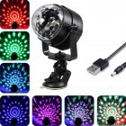 USB Disco Light Car Light 7 Color Changing 3W RGB Mini Crystal Magic Rotating Ball Effect Light Party Disco Club DJ Light Show Without remote control