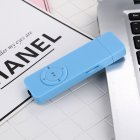 USB Insert Card MP3 Built-in Battery Portable Hang Mini Music Palyer TF Card Extension blue