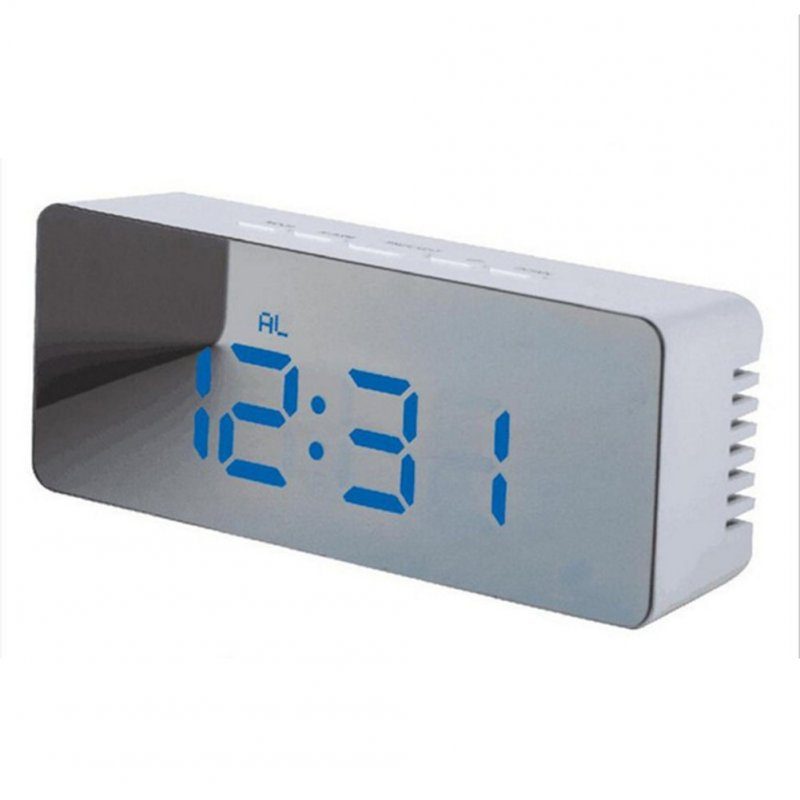 USB Multifunctional Cable Digital Alarm Clock LED Night Light Thermometer Display Mirror Lamp