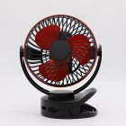 USB Rechargeable Clip Desktop Table Fan Mini Portable Clamp Fan Air Cooler Fan black_160 * 113 * 193MM