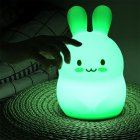 USB Rechargeable Colors Change Silicone Pat Lamp with Remote Control Remote control version