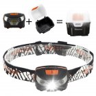 USB Rechargeable Headlamp  Waterproof Magnetic Headlamp with Five Light Modes  Ideal for Running  Walking  Camping  Reading  Hiking etc  USB Cable and Light Box