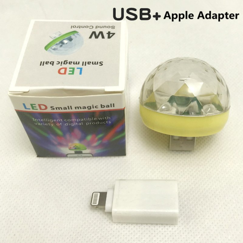 USB Rechargeable Voice Control Magic Ball Lamp with Adapter yellow