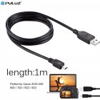USB Sync Data Charging Cable Black 5D3 Camara Data Line Type A to Mini 5 Pin Type B black