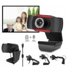 USB Web Camera HD Computer Camera Webcams Built In Sound absorbing Microphone Black 720P