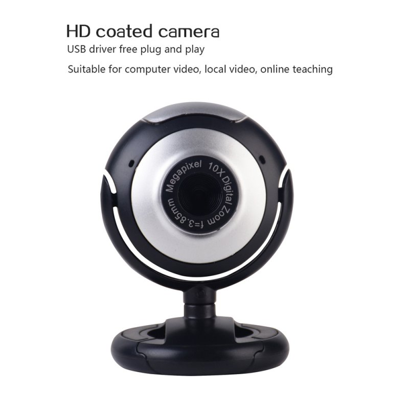 USB Webcam Camera with Mic Night Vision Web Cam For PC Laptop Web Camera PC Webcam Video Calling Computer Camera black