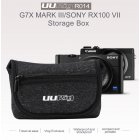 UURig R014 Camera Bag Protective Carrying Case Storage Bag for Sony RX100 VII Canon G7X Mark III Point&Shoot Camera Accessories black
