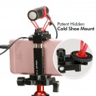 Ulanzi Metal Intelligent Phone Tripod Mount Cold Shoe Mount Stand black