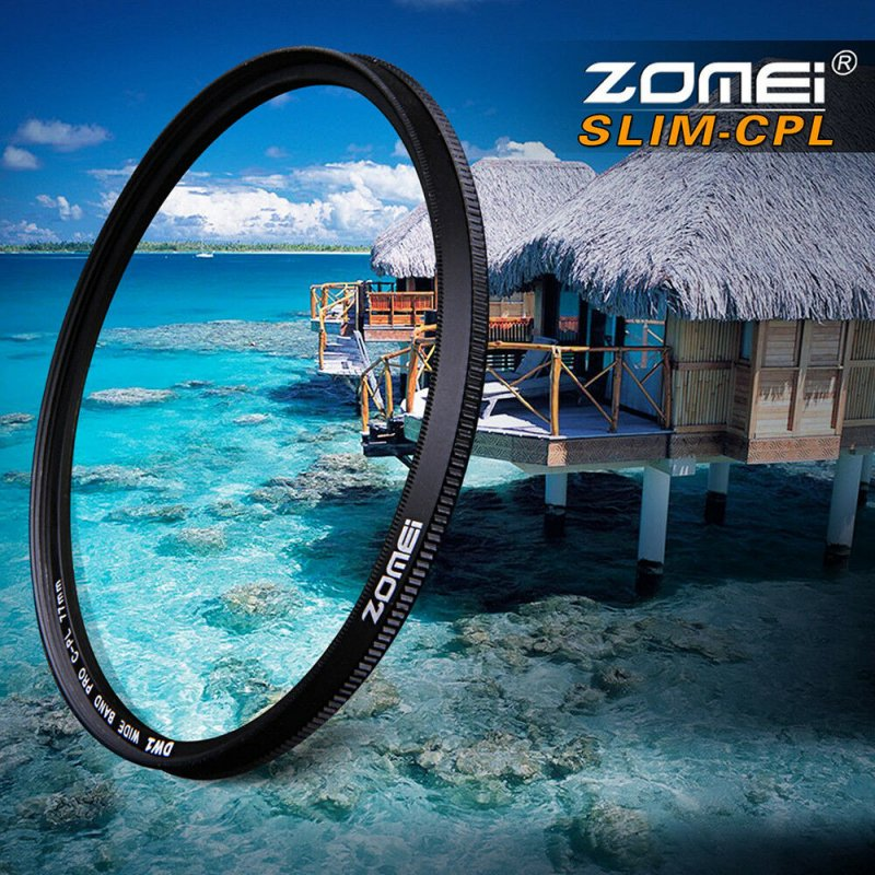 Ultra Slim CPL Circular Polarizing Camera Lens Filter Accessories 62mm