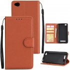 Ultra Slim Shockproof Full Protective Case with Card Wallet Slot for Xiaomi Redmi 5A brown