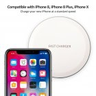 Ultra Thin Desktop QI Wireless Charger Mini Charging Pad for iPhone XS MAX XR X 8 Plus Samsung Note 9 S9 S8 Xiaomi white 5w