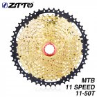 ZTTO MTB 11 Speed Cassette 11 s 11-50 t  UltraLight Freewheel Mountainbike Cassette Flywheel 11-speed 50T black gold SL