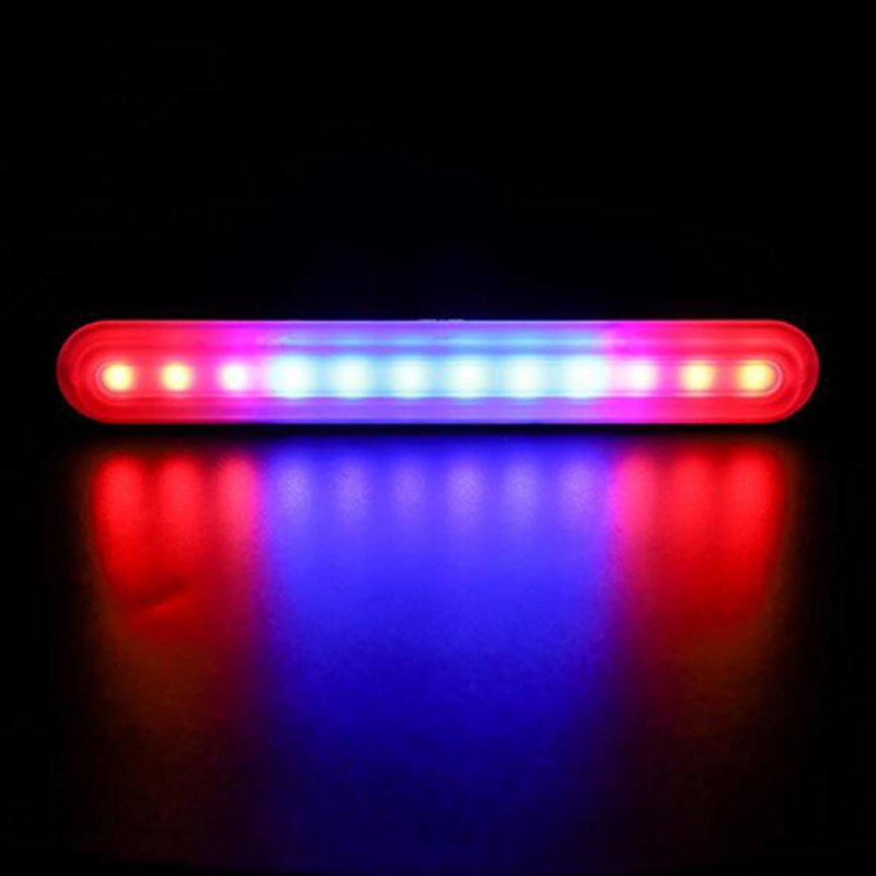 Ultra-thin Car Light Assembly Strobe Warning Light Stop Signal Lamps Auto Moto Trucks Side Marker Lights Red + blue + red