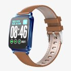 Ultra-thin Fashion M8 Fitness Tracker IP67 Waterproof Blood Pressure Sports Call Reminder Bluetooth <span style='color:#F7840C'>Smart</span> iOS <span style='color:#F7840C'>Watch</span> blue