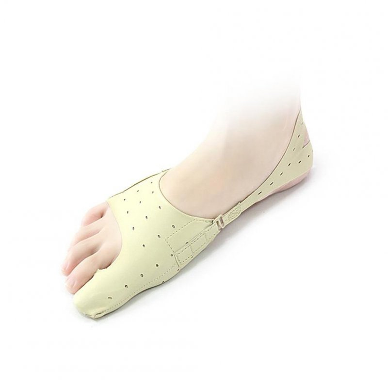 Ultra-thin Foot Care Tool Foot Thumb Bones Toe Separator Hallux Valgus Orthopedic Shoes Bunion Corrector 1PC  beige_M