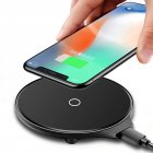 Ultra thin Wireless Charger 10w Magnetic Mobile phone charger For iPhone Huawei Wireless Fast Charger  black
