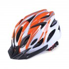 Bicycle Helmet Orange white Free Size