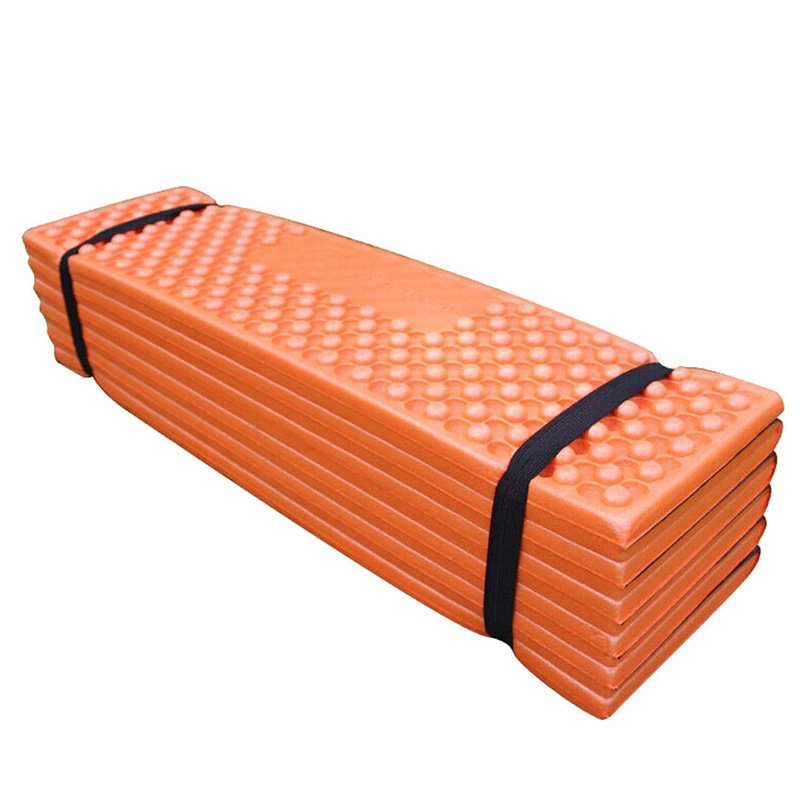 Ultralight Foam Outdoor Camping Mat Easy Folding Beach Tent Sleeping Pad Waterproof Mattress 190 * 57 * 2 cm Orange_190 * 57 * 2CMOrangeDark greenredblue